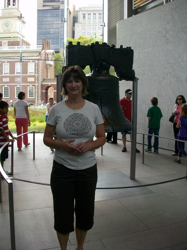 Debbie at the Liberty Bell