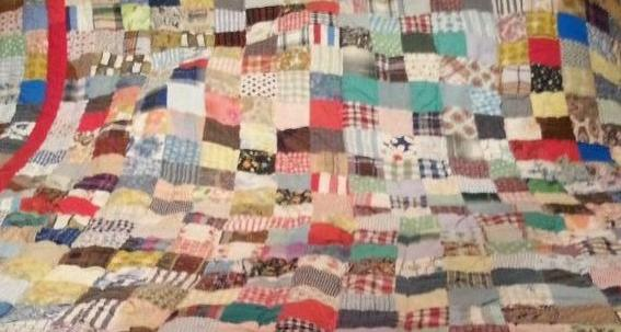 Well used old quilt
