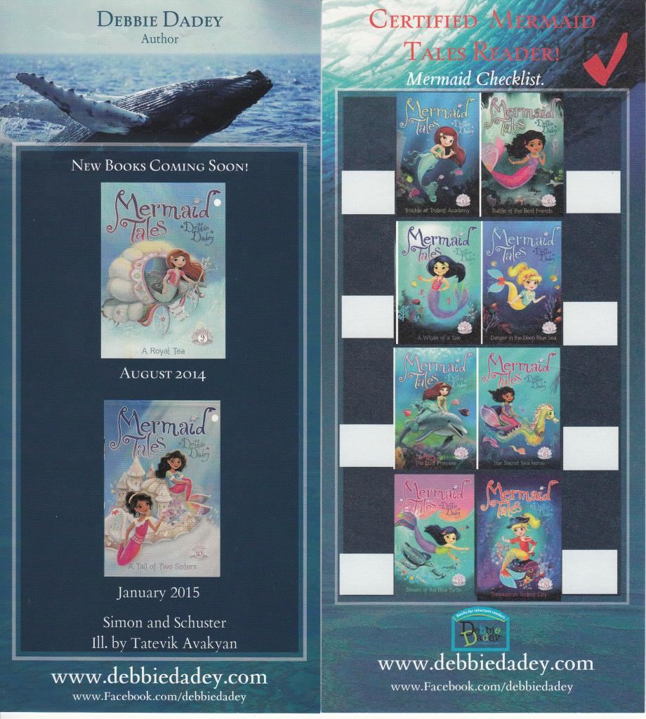 Mermaid Tales check off bookmark
